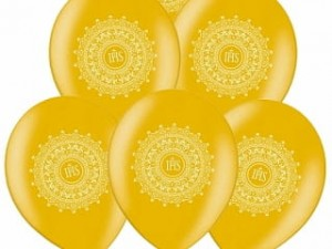 "Balony 14"" IHS, Metallic Gold, 10szt."